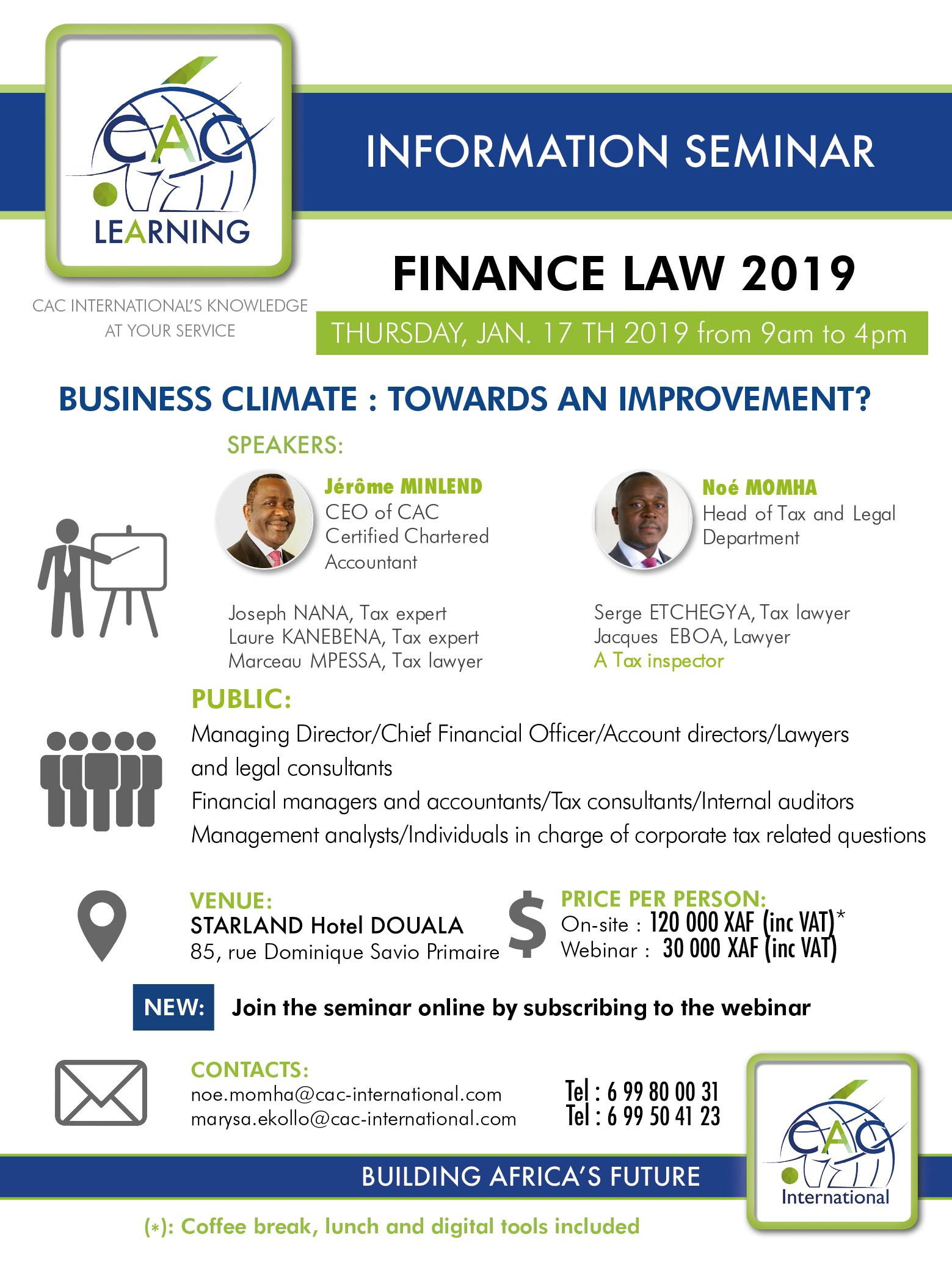 Finance Law 2019 |